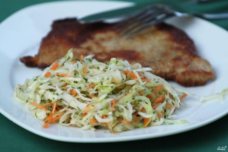 Салат из капусты с морковью