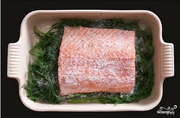 Засол красной рыбы - пошаговый рецепт