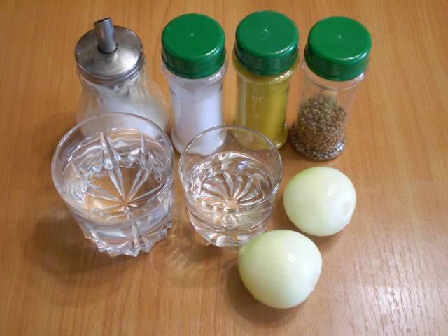 Лук, маринованный к шашлыку - пошаговый рецепт