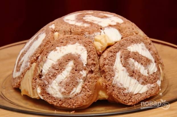 Торт из рулетов - пошаговый рецепт с фото на