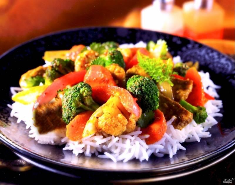 Говядина с брокколи и цветной капустой - пошаговый рецепт