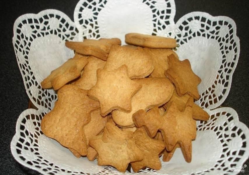 5.Выпекаем печенье в разогретом до 180 градусов духовом шкафу 15-25 минут. После чего достаем противень и перекладываем печенье в тарелку. Приятного аппетита!