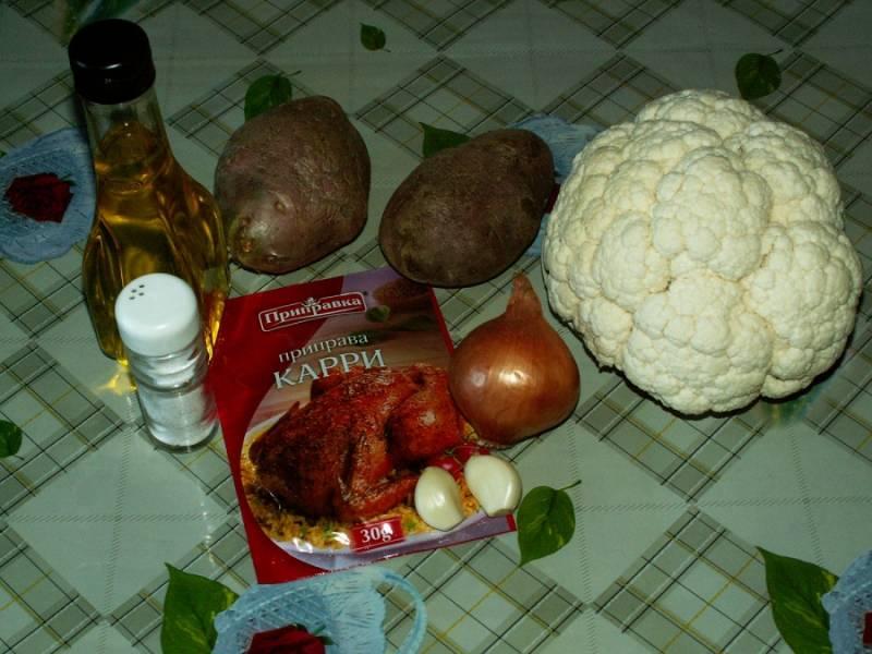 Тушеная картошка с цветной капустой - пошаговый рецепт