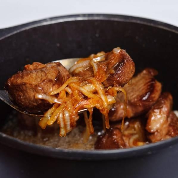 Так выглядит готовое мясо: