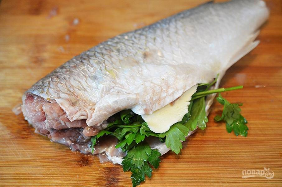 Пеленгас, запеченный в духовке - пошаговый рецепт