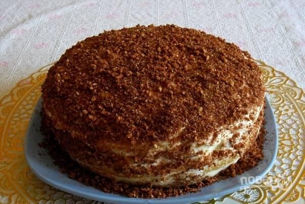 Домашний кефирный торт