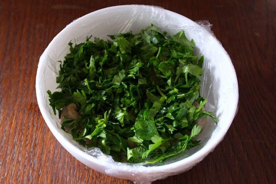 Салат - Грибная полянка - с курицей - пошаговый рецепт с фото на
