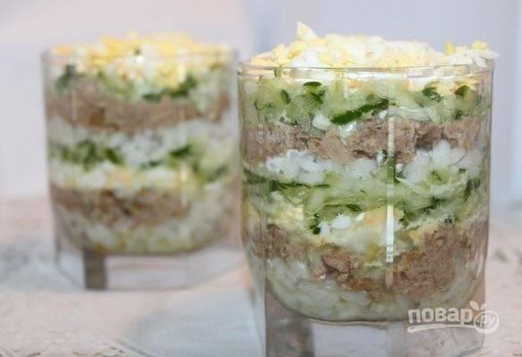 Салат слоеный - пошаговый рецепт с фото на