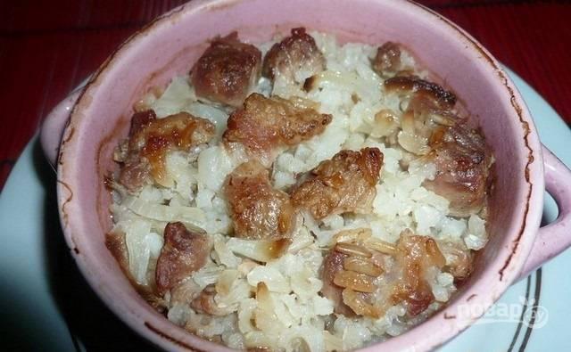 Рисовая каша в горшочке - пошаговый рецепт с фото на