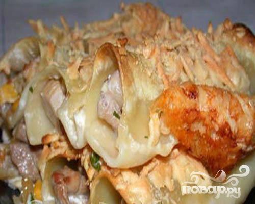 Каннеллони с курицей - пошаговый рецепт
