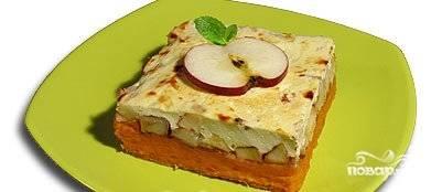 Запеканка из тыквы и яблок