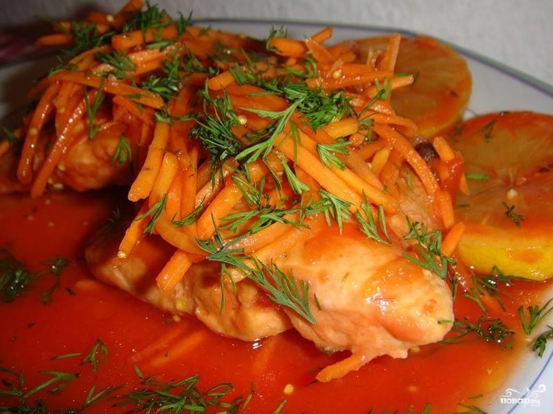 Рыба в маринаде с морковкой
