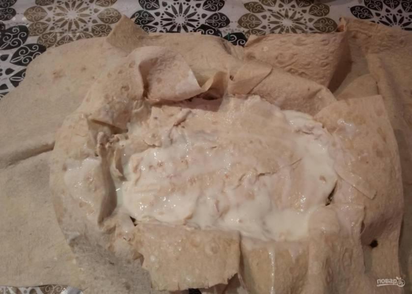 Яично-мясной тортик со вкусом шавермы - пошаговый рецепт