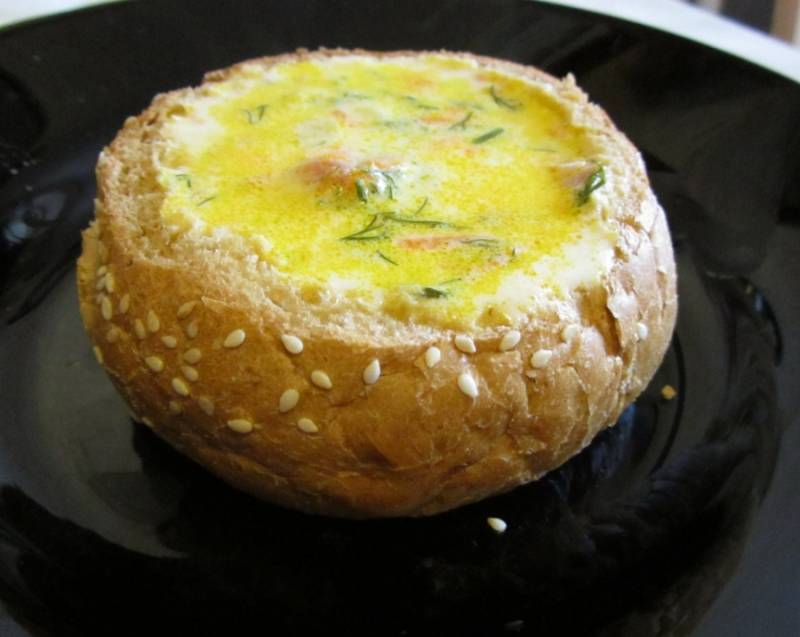 Cуп в булке хлеба - пошаговый рецепт