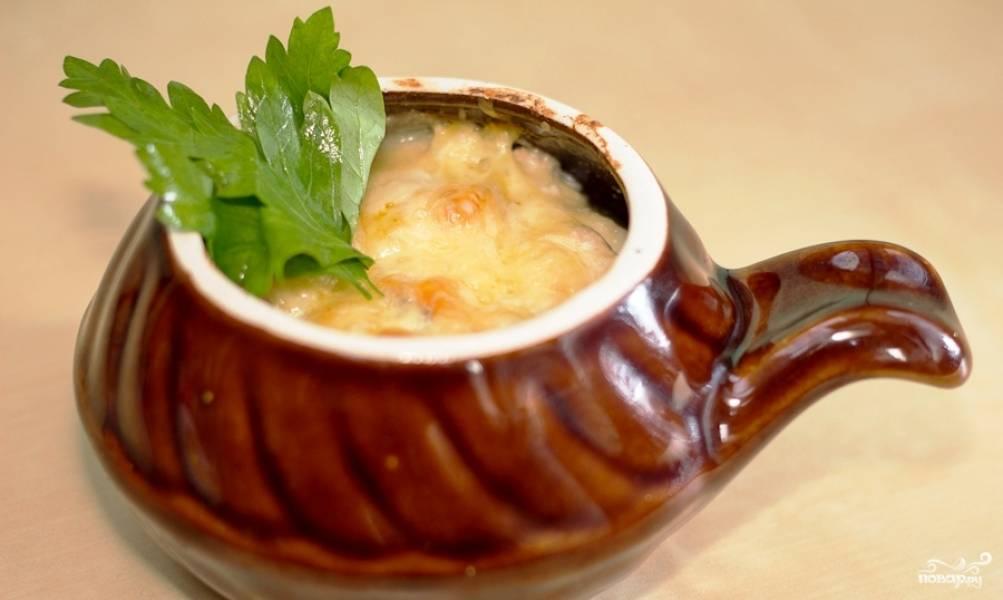 Жульен с курицей и грибами в горшочках пошаговый рецепт