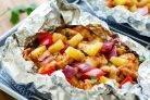 Курица в фольге - рецепты (55 рецептов курицы запеченной в фольге)