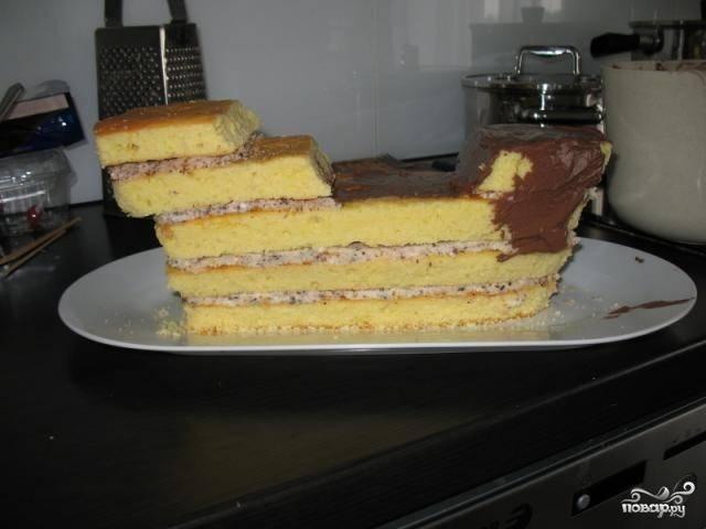 Торт корабль своими руками без мастики