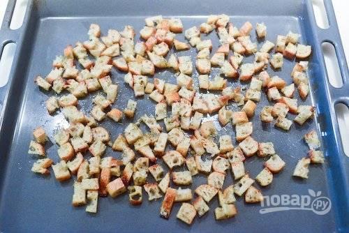 Сухарики к пиву - пошаговый рецепт с фото на