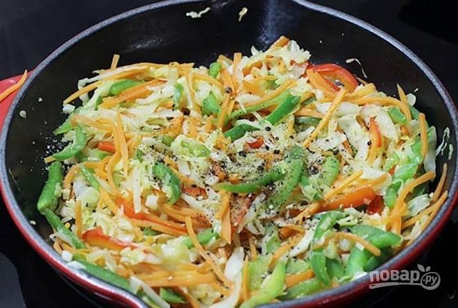 Жареная капуста - пошаговый рецепт с фото на
