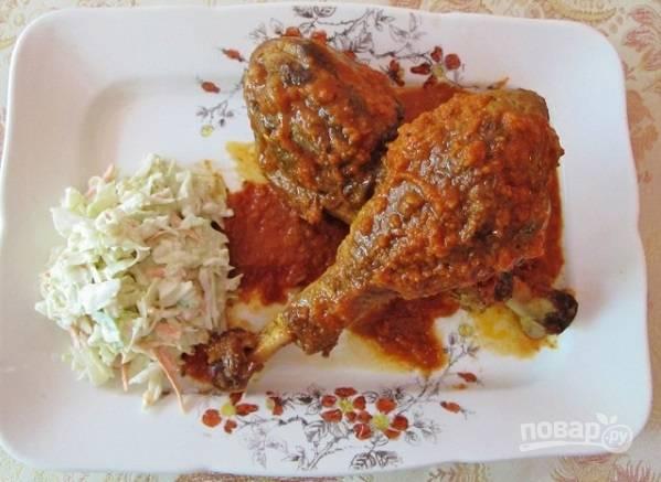 Голень индейки в духовке в фольге - пошаговый рецепт с фото на