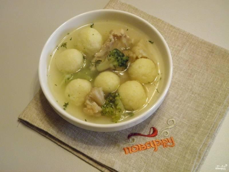 Суп с картофельными шариками готов! Приятного аппетита!