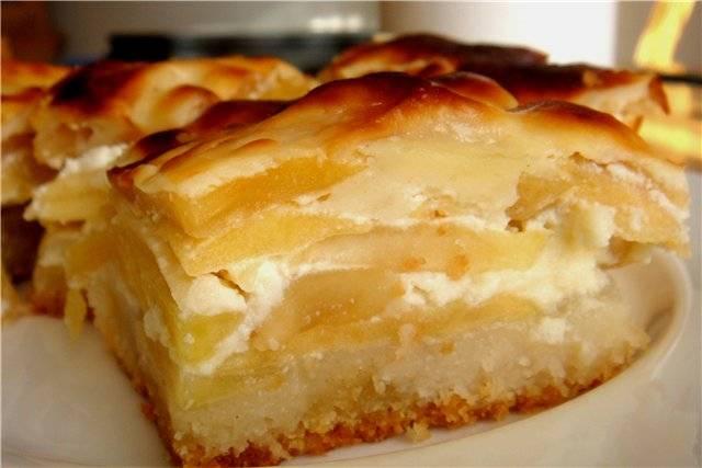 Пирог на кефире с яблоками в духовке рецепт