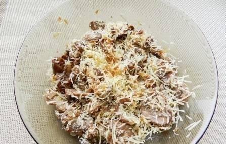 Грибная начинка для блинов - пошаговый рецепт