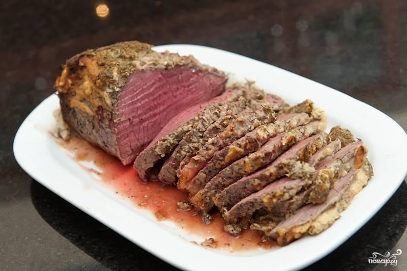 Мясо говядины кусочками в духовке