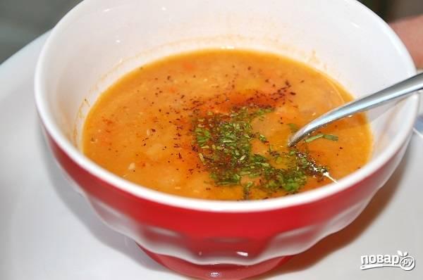 Турецкий суп из чечевицы
