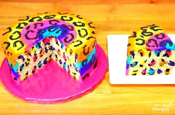 Торт - Леопард - пошаговый рецепт