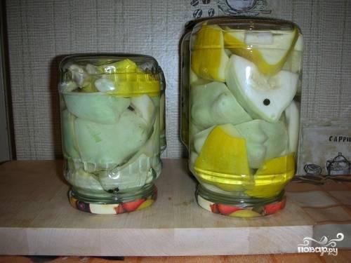 Маринованные патисоны с лимонной кислотой
