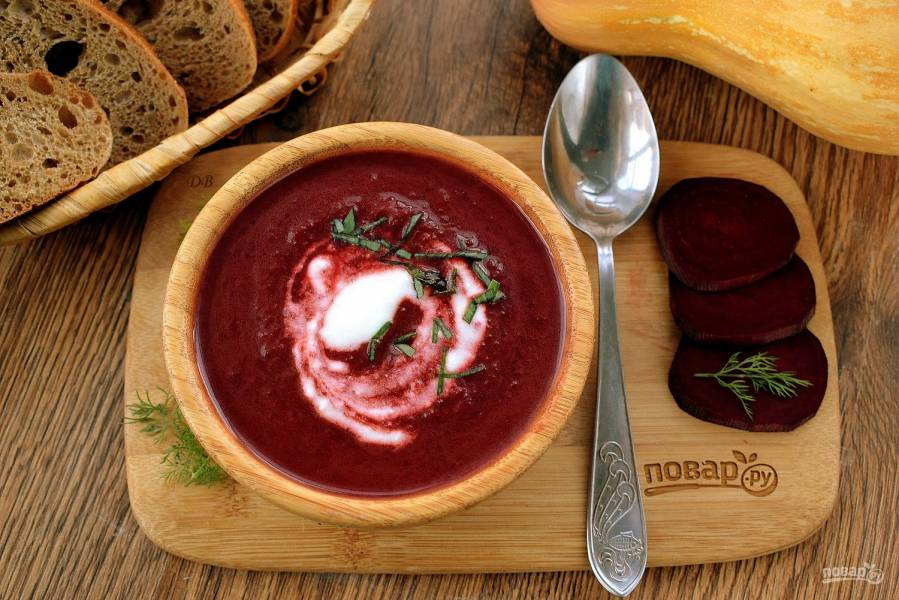 Свекольно-тыквенный суп