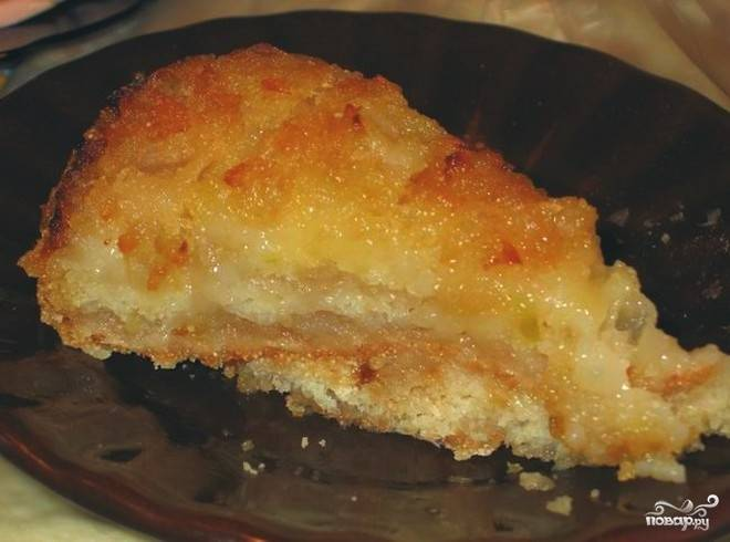 Яблочный пирог в микроволновке