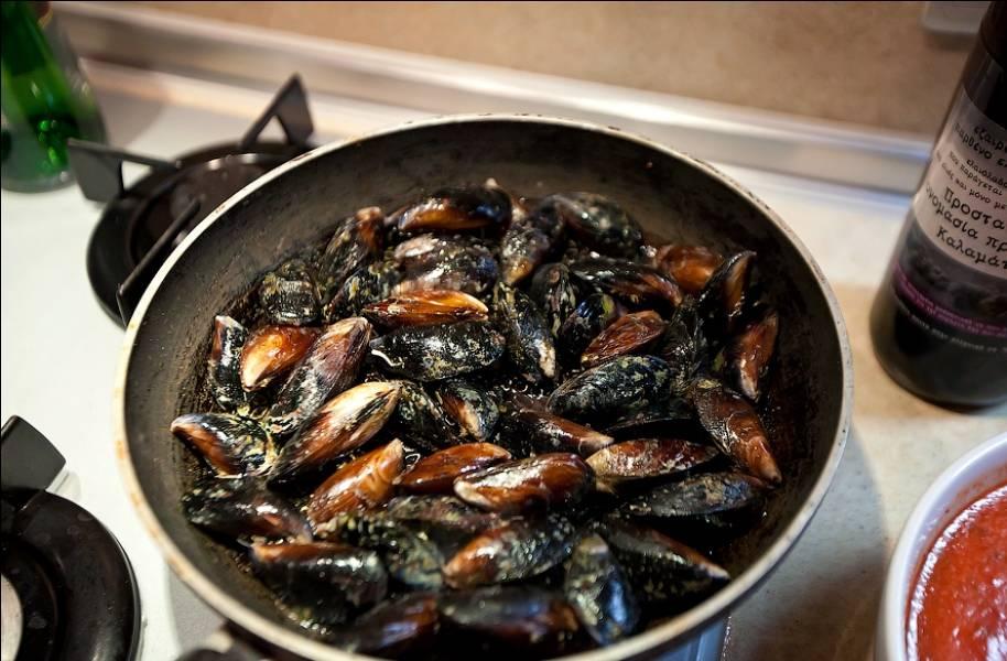 Мидии на сковороде рецепт пошагово в домашних условиях