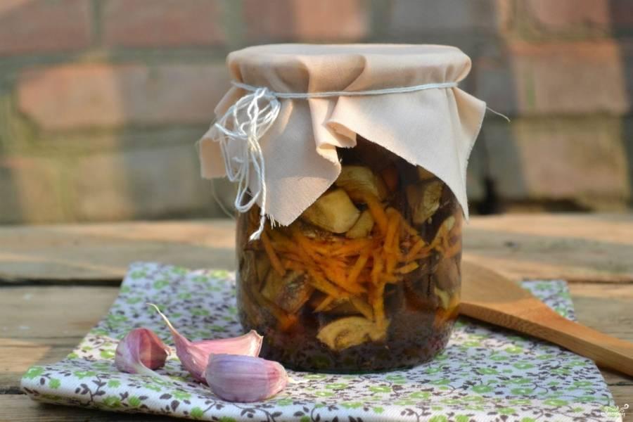 Баклажаны с морковкой и чесноком на зиму - пошаговый рецепт
