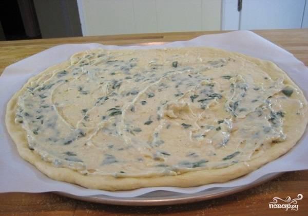 Белый соус для пиццы