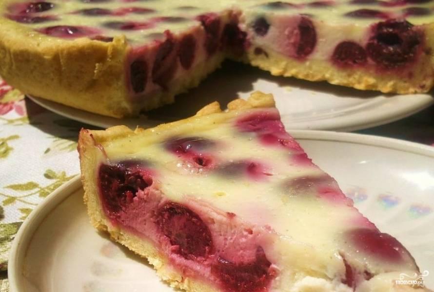 Пирог с вишней и сметаной - пошаговый рецепт