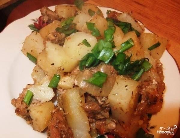 Картошка со свининой в пакете для запекания - пошаговый рецепт