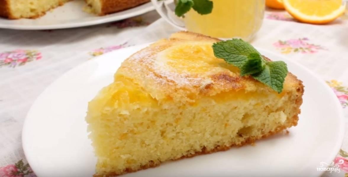 Быстрый пирог с апельсинами