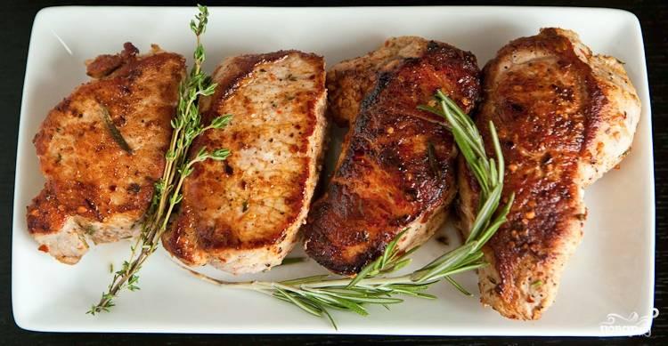 отбивные свиные в духовке рецепт с фото