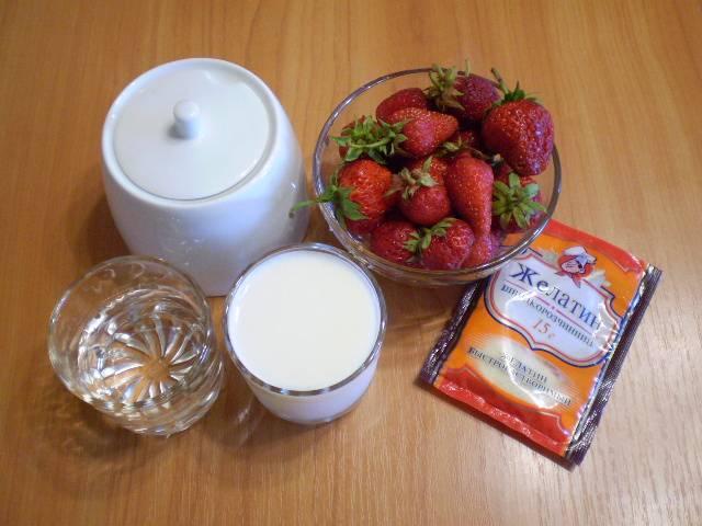 1. Приготовим продукты для суфле.