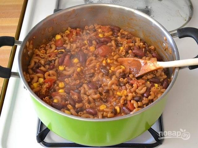Макароны с фасолью в томатном соусе - пошаговый рецепт