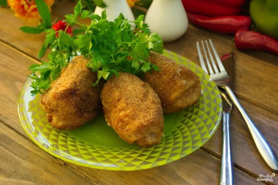 Котлеты по киевски с грибами рецепт с пошаговым
