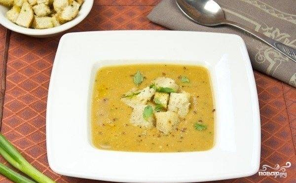 Вегетарианский суп-пюре из чечевицы