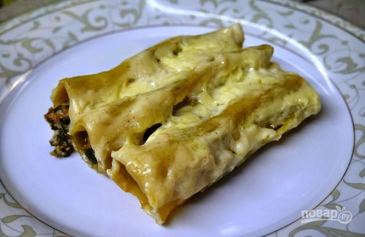 Каннеллони с курицей и творожным сыром - пошаговый рецепт