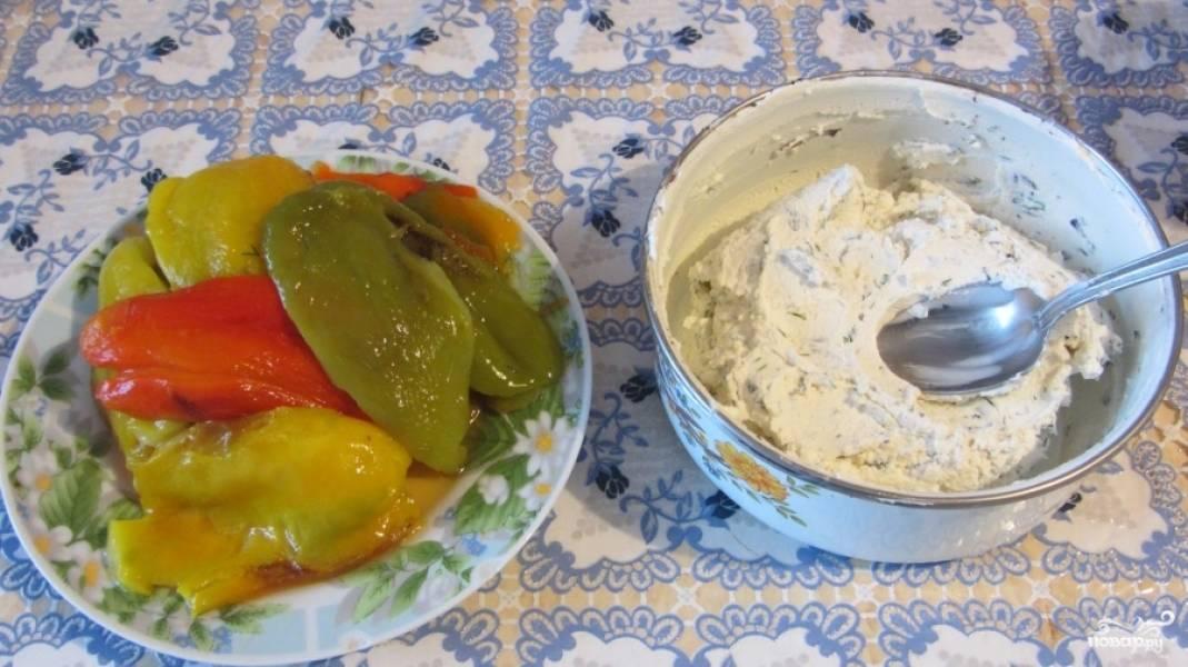 Перцы, фаршированные творогом - пошаговый рецепт