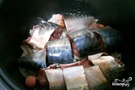 Рыба, тушенная с овощами в мультиварке - пошаговый рецепт