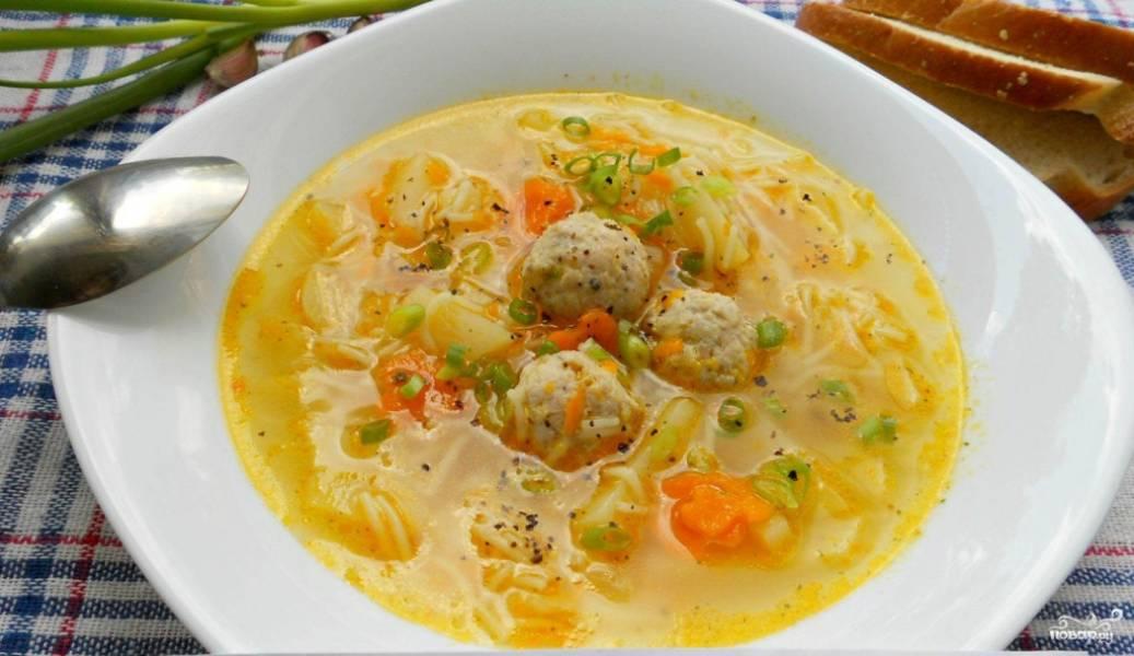 Суп с вермишелью и фрикадельками рецепт пошагово