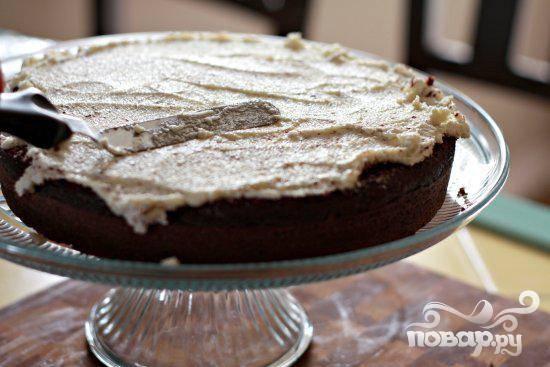 Шоколадный торт со сливочной глазурью - пошаговый рецепт