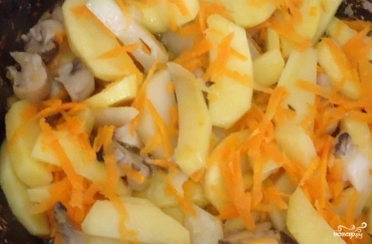 Вешенки, тушенные с картошкой - пошаговый рецепт